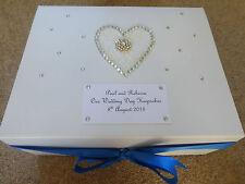 Large Wedding Keepsake Box Personalised Memory Box Diamante *Stunning*