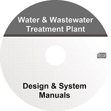 Water & Wastewater Treatment Plant Design & System Manual (2-Volumes) Book on CD