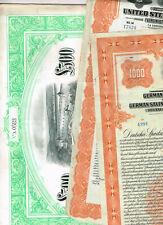 Set, 3 Anleihen Deutschland in US$/LB mit Golddeckung, Gold-Bonds, VF-VF minus