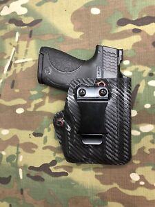 Carbon Fiber Kydex IWB Holster w/ red eyelet for M&P Shield 2.0 TLR-6