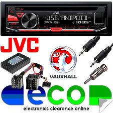 Vauxhall Astra G Jvc Radio CD MP3 USB Automóvil Estéreo Kit De Montaje & Volante