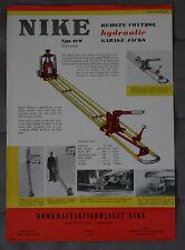 NIKE Hardware brochure Hydraulic Garage Jacks 1957 - Canada - ST501001117