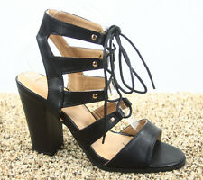 Women's Fashion Lace Up  Open Toe Pointed Toe Heels Sandal Shoes Size 5 - 11 NEW