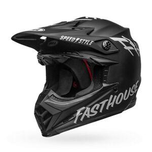 Bell Moto-9 MIPS Fasthouse MX Offroad Helmet Matte Black/White