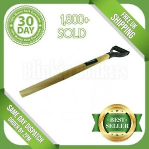SPADE D HANDLE REPLACEMENT SPARE WOODEN WOOD SHAFT TAPERED GARDEN SHOVEL FORK