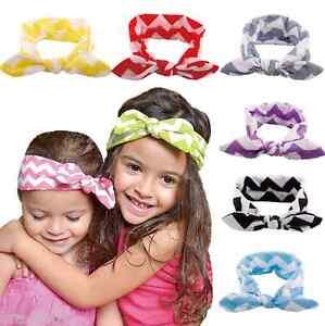 Baby Headband Toddler Cute Girl Kid Bow Hairband Knot Rabbit Turban Headwear New