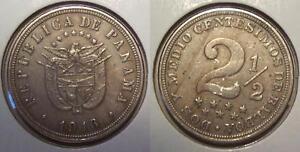 1916 PANAMA 2 1/2 CENTESIMOS - KM# 7.2
