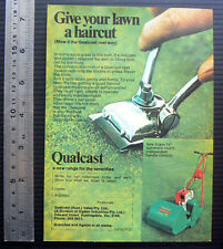 1970 vintage ad QUALCAST REEL MOWER Cylinder lawnmower print advertisement lawn