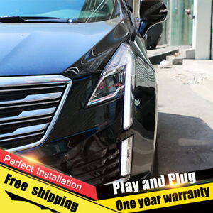 For Cadillac XT5 Headlights assembly Bi-Xenon Lens Double Beam HID KIT 2017-2019