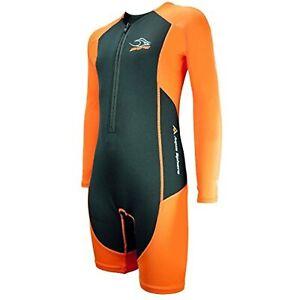 Aqua Sphere Stingray Core Warmer Long Sleeve Wetsuit, UV Protection, Orange, 6