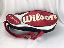 Wilson Tour ThermoGuard Tennis Racquet Backpack Bag Red Black Moistureguard