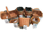 Set Of 7 Signed By Dave Longaberger Baskets MINT & Family Signatures collectable