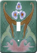 Art Nouveau Vintage Metal Switch Light Cover plate #18