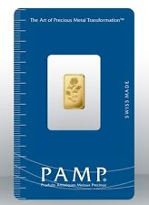 Gold bullion Pamp 1g minted bar Sealed + Certificate