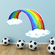 RAINBOW CLOUD FULL COLOUR WALL STICKERS DECAL GRAPHICS TRANSFER CHILDREN'S PRINT