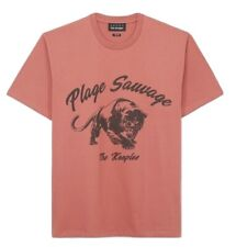The Kooples Pink T-shirt With Panther, Size Small, Relaxed Fit