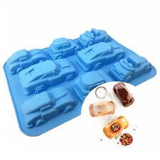 8-Cavity Car Mould Chocolate Candy Mold Fondant Cake Decor Silicone Baking Tools