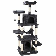 """New listing 67"""" Cat Tree Multi-Level Condo Tower Kitty Climbing Furniture Scratching Post"""