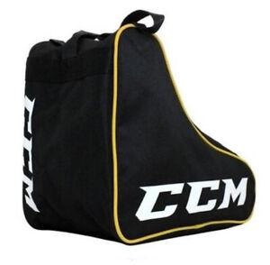 Sac à patins CCM noir/jaune housse patins et roller