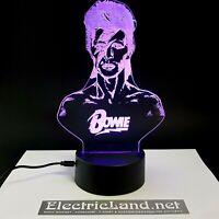 Bowie Aladdin sane ziggy lampada luce notturna Led 3D Acrylic Night Light Lamp