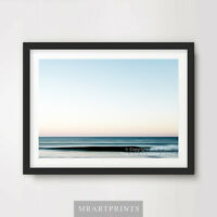 STILL HORIZON SEA OCEAN Art Print Poster Tranquil Serene Nature Picture A4 A3 A2