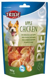 Trixie PREMIO Dog Treats Apple Chicken Crispy Duck Rabbit Lamb - 100g