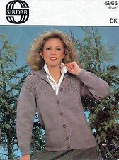 """~ Sirdar Knitting Pattern For Lady's Lovely Fancy Yoke Jacket ~ 32"""" ~ 42"""" ~ Note"""