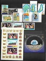 A Selection of Tuvalu Mint Never Hinged Stamps and Booklets - see photos