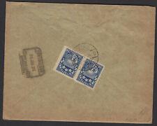 LETTONIE : Enveloppe Recommandée Affrt à 20 Sant X2 Oblt CàDate LEEPAJA LATWIJA