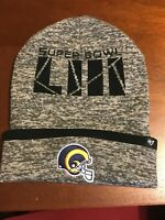 Los Angeles Rams '47 NFL Super Bowl LIII Birch Cuff Knit Beanie Hat  NEW W/TAGS