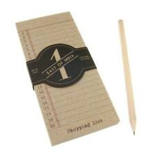 East of India Shopping List Paper Pad Pencil Refill