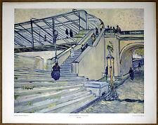Van Gogh The Railway Bridge at Trinquentaille Original 1St Ed 1960s Lithograph
