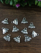 Wholesale 12pcs Tibet silver Car Charm Pendant beaded Jewelry Findings DIY  B32
