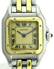 Cartier Panthere luxuriöse Damenuhr Ref. 166921 (Stahl / Gold) 22x22mm Quarzuhr