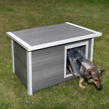 Medium Dog Kennel Outdoor Grden Dog House Flat Roof Dog Kennel