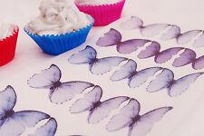 PURPLE Butterfly Cupcake Topper Princess 20pc Birthday Violet Lilac Lavender