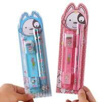 5 Pcs Stationary Set Pencil Eraser Ruler Pencil Sharpener Kid Gift Learning Tool