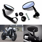 "Motorcycle 7/8"" Handle Bar End Rearview Side Mirrors Suit for Honda Yamaha KTM"