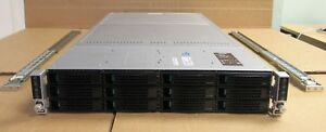 Intel H2312JFKR 4 Node Servers 8 x TEN-Core XEON E5-2680v2 256GB 2U Rack Server