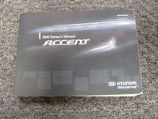 2009 Hyundai Accent Hatchback Sedan Owner Manual User Guide Book GS SE GLS 1.6L