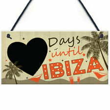 CHALKBOARD Countdown Holiday Ibiza Hanging Plaque Friendship Alcohol Party Gift