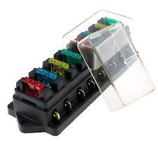 12V/24V 8 Way Standard Circuit ATC ATO Car Auto Blade Fuse Box Block Holder