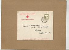 "ISRAEL-PALESTINE-SCARCE1946 ""BRITISH RED CROSS,PALESTINE"" ADV COVER TO SWITZERLA"