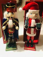 Lot of 2 - Wishes and Wonder Nutcrackers - Toy Soldier and Santa Claus In Box