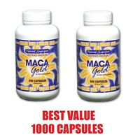Certified Organic MACA GOLD ROOT 1000 Capsules ~ 550mg ~ Superfood Premium Grade