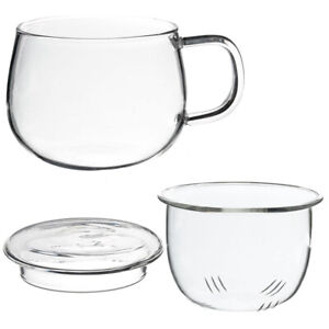 Coffee Milk Cup with Tea Teacup Tea Glass Cup Infuser Filter Lid Use for Home