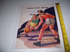1950 AUTOGRAPHED HARLEM GLOBE TROTTERS BASKETBALL - POP GATES HAYNES BROWN