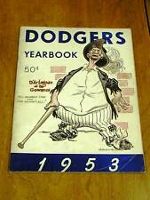 ORIGINAL 1953 Brooklyn Dodgers YEARBOOK Very Good Cond.