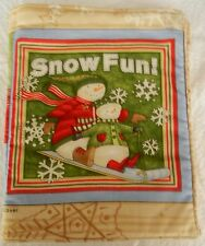 Snow Fun  Fabric Book