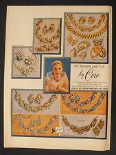 1956 Coro Fine Jewelry~Bracelet-Earrings-Pins~My Fair Lady~Thierry~Rosalinda AD